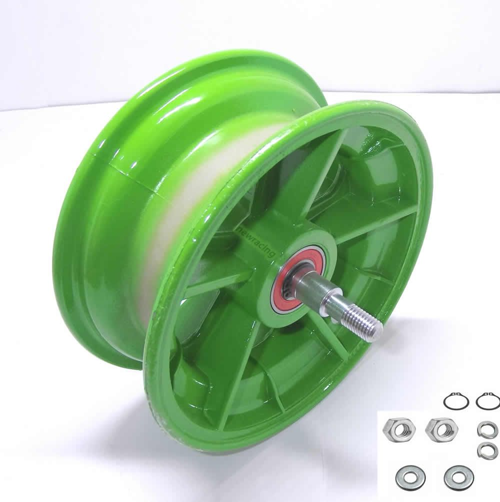 Roda dianteira walk machine montada verde original
