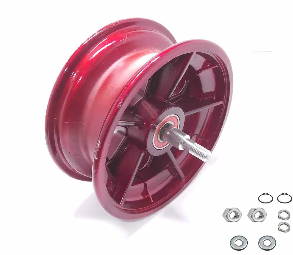 Roda dianteira walk machine montada vermelha original