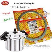 Anel de Vedação em Silicone (Guarnição) para Panela Pressão Industrial 12 / 15 / 20 Litros - Fulgor