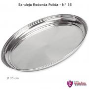 Bandeja Redonda Polida de Alumínio 35 cm - Vigôr