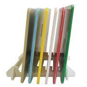 Jogo 6 Tábuas de Corte em Polietileno 50 x 30 x 1 cm com Suporte - Chef Work