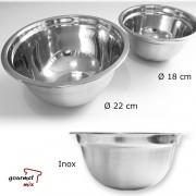 Jogo com 2 Tigelas (Bowl) em Inox 22 e 18 cm - Gourmet Mix