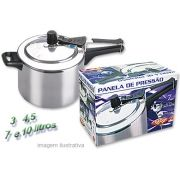 Panela de Pressão 10 litros Polida com Aliviador de Pressão - Fulgor