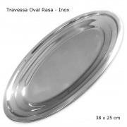 Travessa Oval Rasa em Inox 35 cm - Gourmet Mix