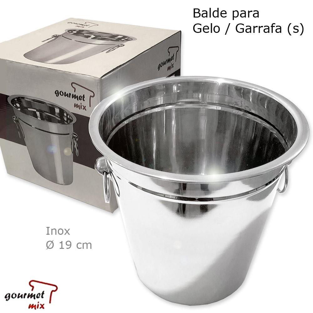Balde Inox para Gelo / Garrafa com Argolas - Gourmet Mix