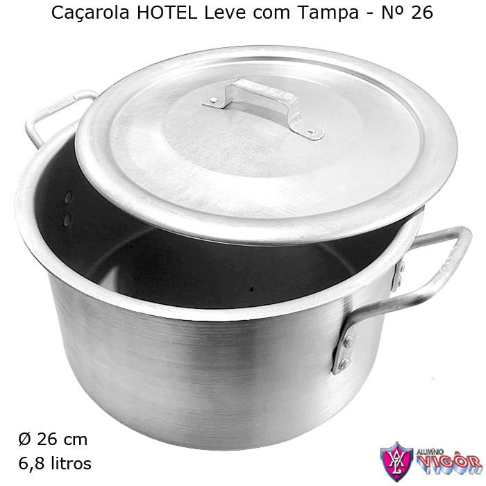 Caçarola Hotel LEVE N° 26 com 6,8 litros - Alumínio Vigôr