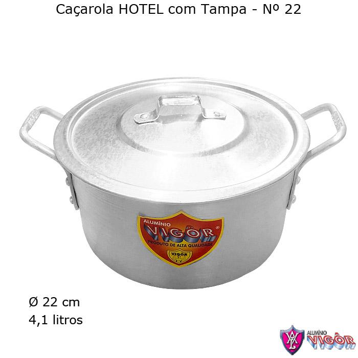 Caçarola Hotel N° 22 com 4,1 litros - Alumínio Vigôr