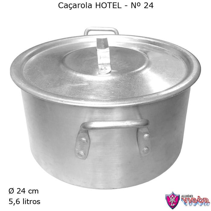 Caçarola Hotel N° 24 com 5,6 litros - Alumínio Vigôr