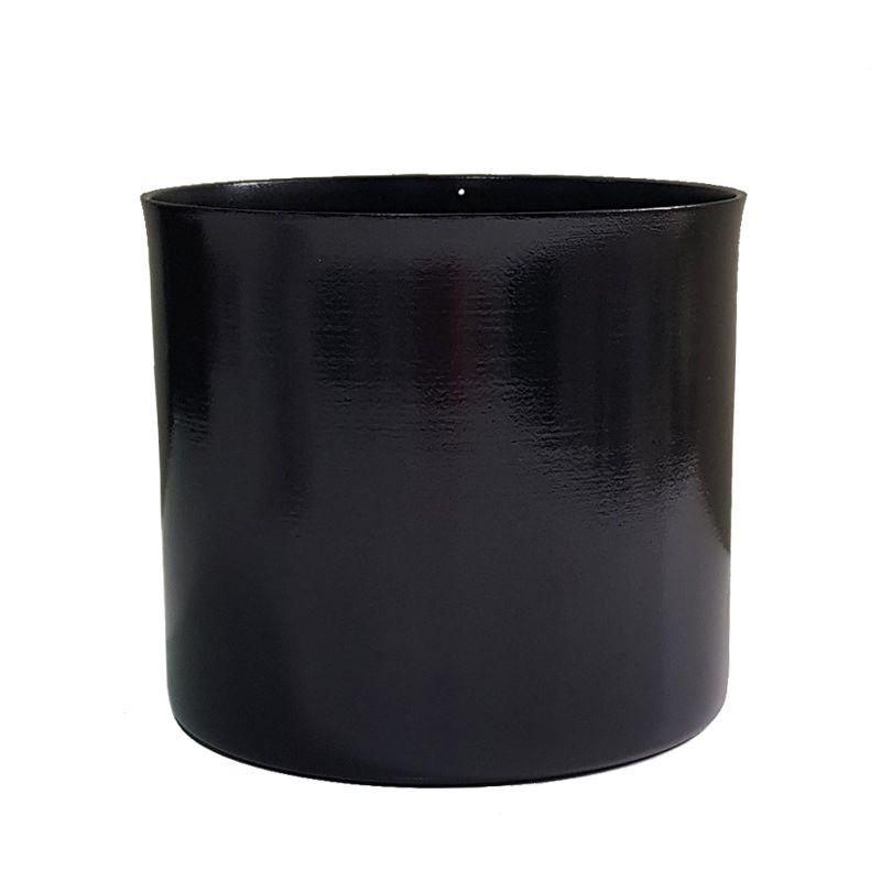 Cachepot em Alumínio Preto Obsidiana
