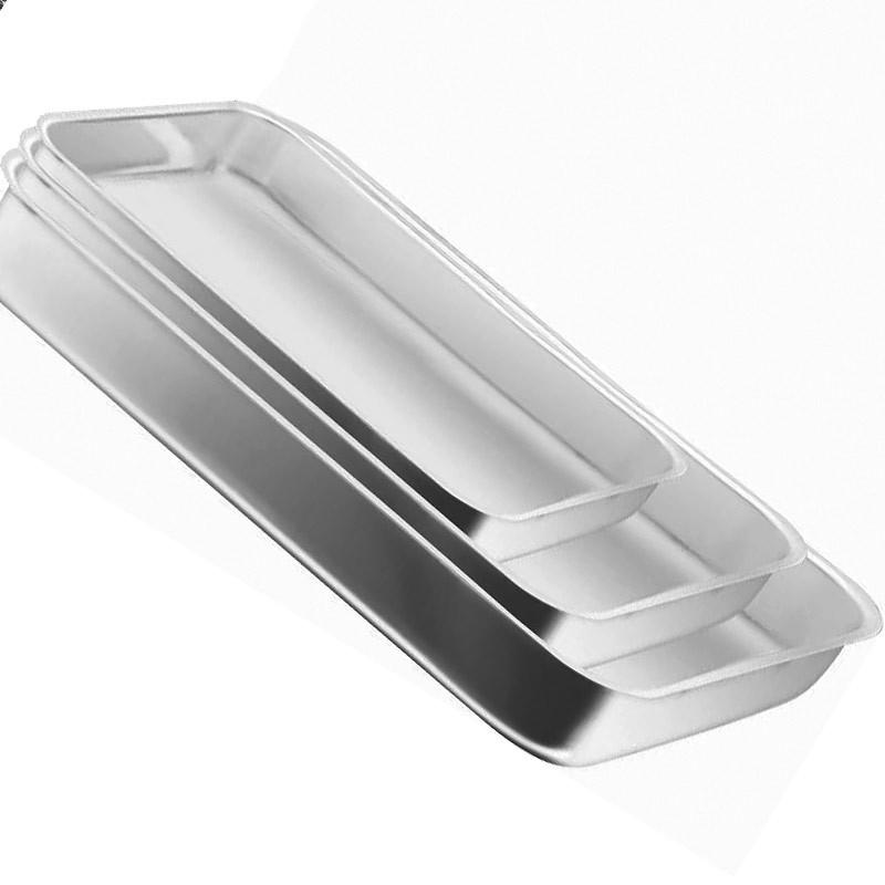 Conjunto com 3 Assadeiras Retangular Alumínio - Brilhante