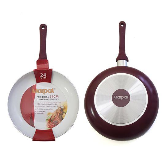 Frigideira Cerâmica Antiaderente Vinho 26 cm - Marpal