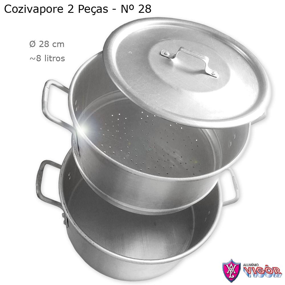 Cozivapore Hotel N° 28 com 2 peças para 8 litros - Vigôr