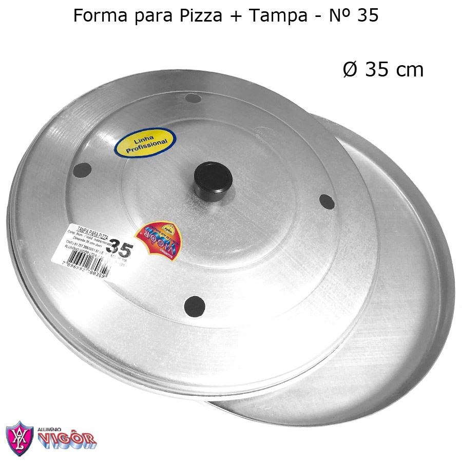 Forma para Pizza com Tampa 35 cm - Vigôr