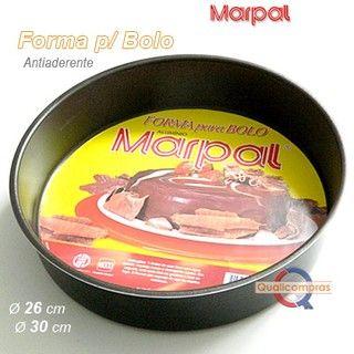 Forma Redonda para Bolo 26 cm Antiaderente - Marpal