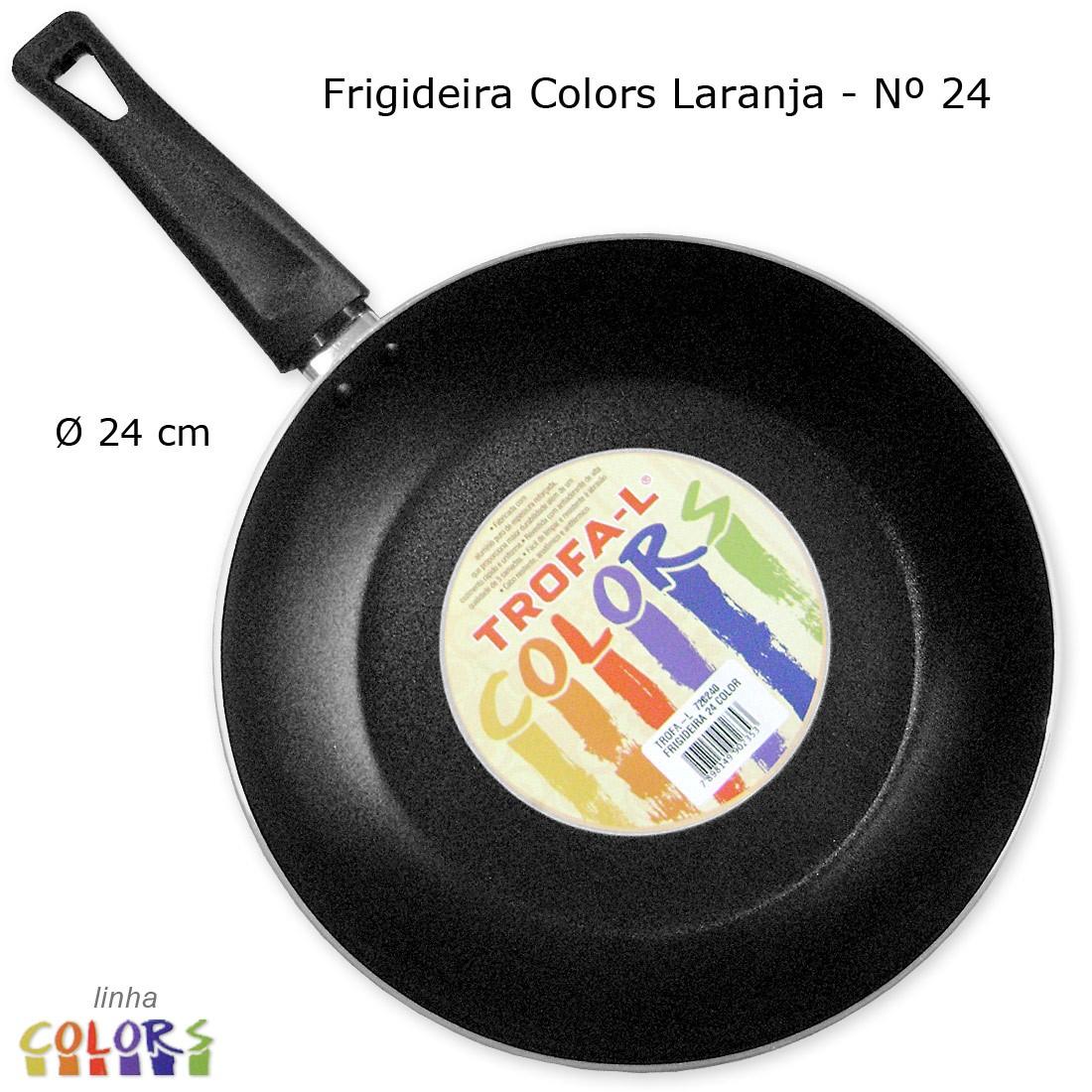 Frigideira Colors Laranja Antiaderente 24 cm - Trofa-L