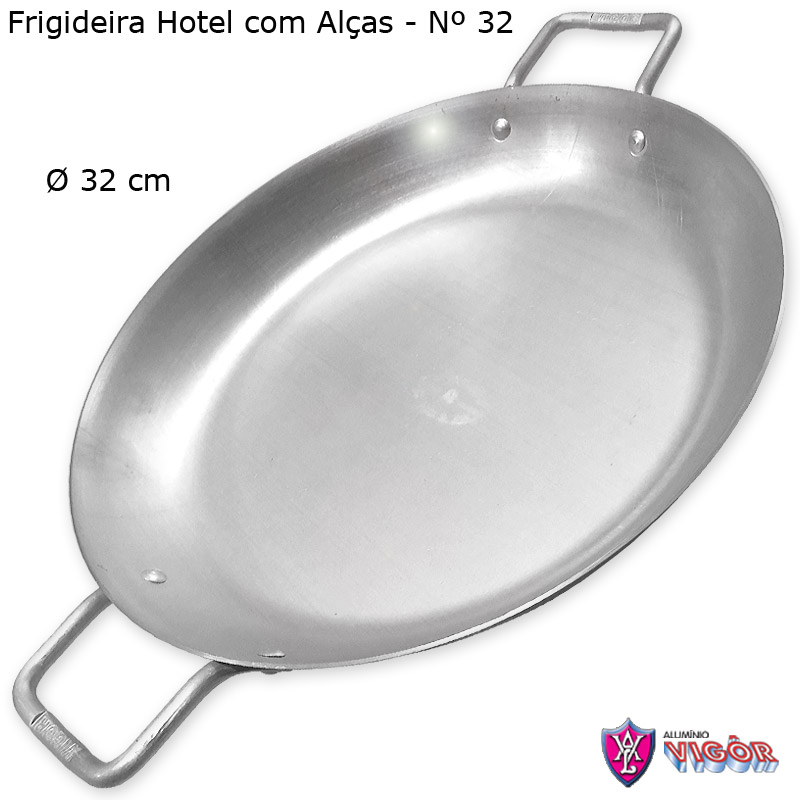 Frigideira Hotel com Alças 32 cm - Alumínio Vigôr