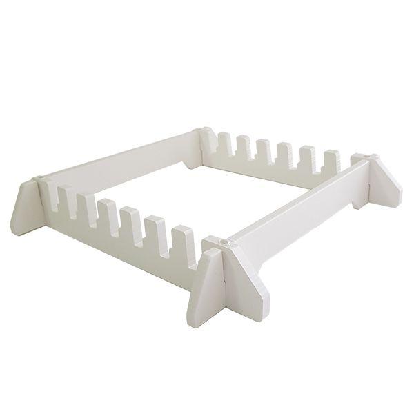 Jogo 6 Tábuas de Corte em Polietileno 40 x 60 x 1 cm com suporte