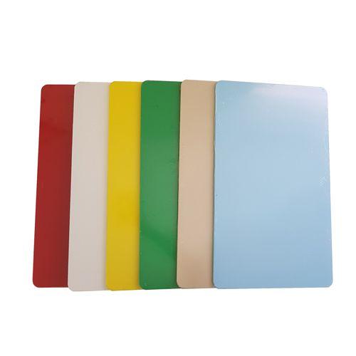 Jogo 6 Tábuas de Corte Grande em Polietileno 40 x 60 x 1 cm - Chef Work