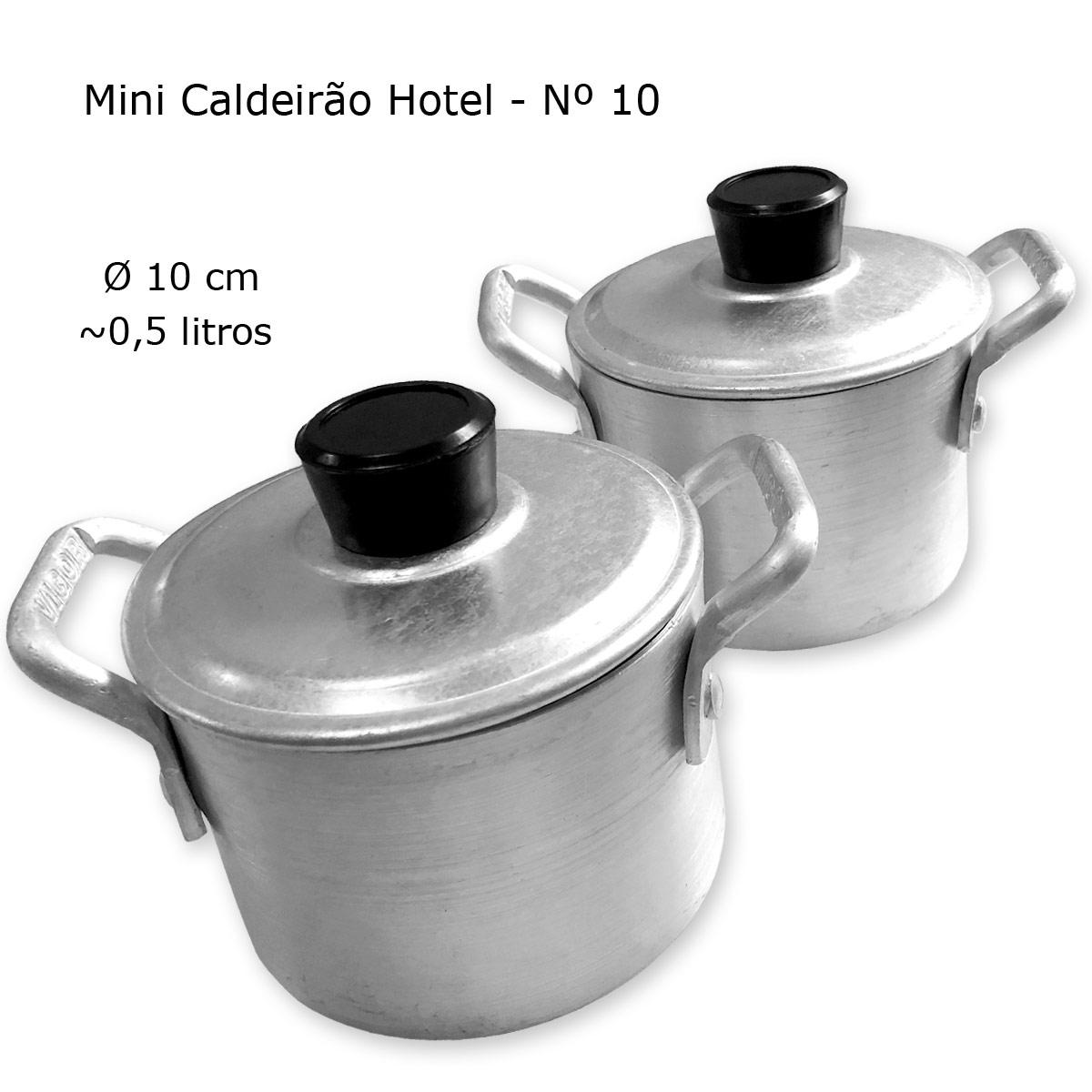 Conjunto / Jogo com 2 Mini Caldeirão para Feijoada e outros Pratos Nº 10 - Vigor