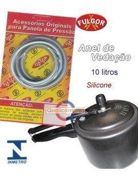 Kit 2 Anéis de Vedação em Silicone 7 e 10 litros Panela de Pressão Fulgor