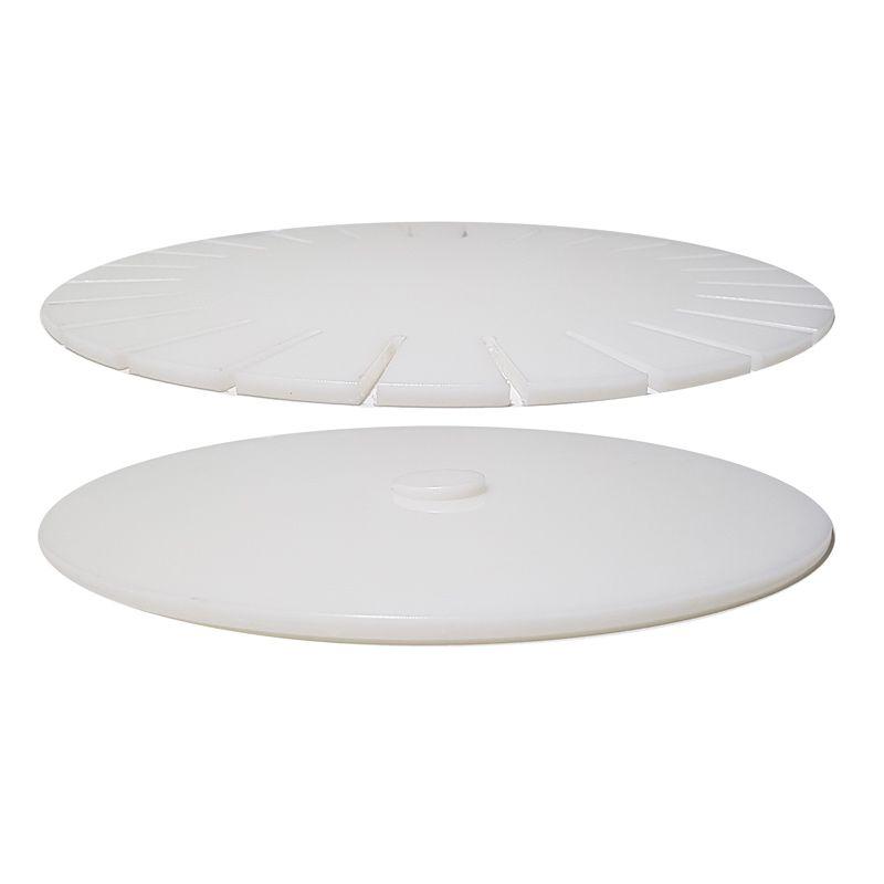 Molde Giratório para Pizza Borda Pãozinho e Vulcão 40 cm Polietileno