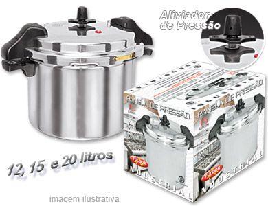 Panela de Pressão 20 litros Industrial Polida com Alças - Fulgor