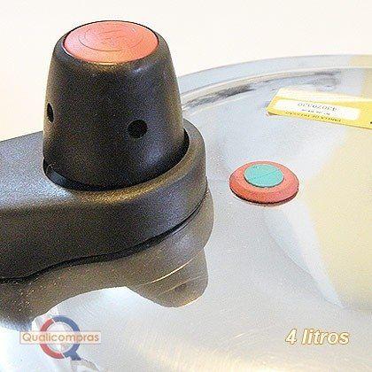 Panela de Pressão 4 litros Polida Tampa Fechamento Externo - Fulgor