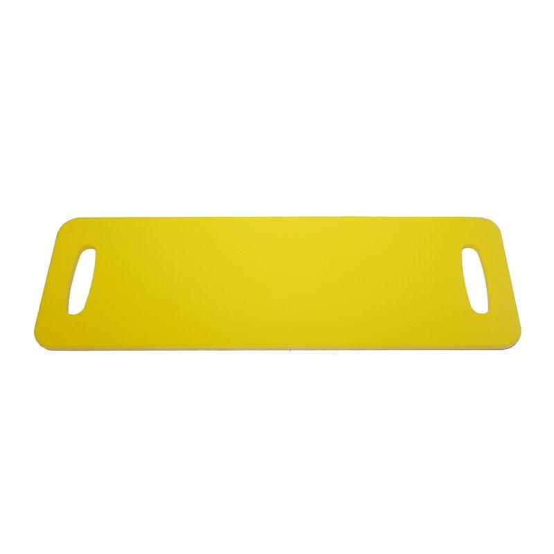 Tábua Baguete Amarela em Polietileno 50 x 16 cm para Servir Lanches, Churrascos e Petiscos