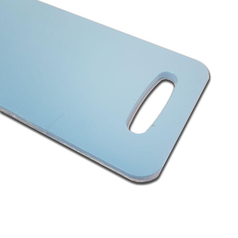 Tábua Baguete Azul em Polietileno 50 x 16 cm para Servir Lanches, Churrascos e Petiscos