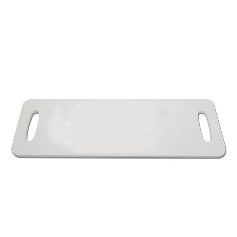 Tábua Baguete Branca em Polietileno 50 x 16 cm para Servir Lanches, Churrascos e Petiscos