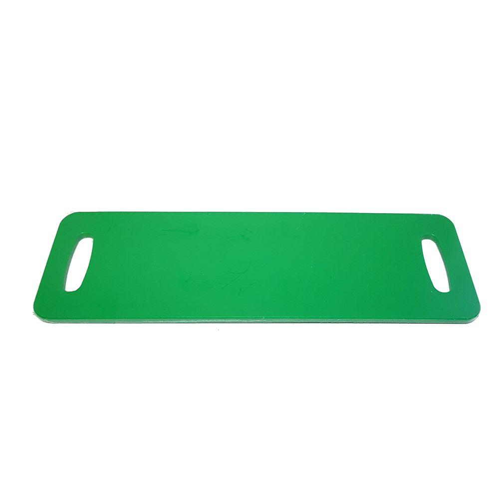 Tábua Baguete Verde em Polietileno 50 x 16 cm para Servir Lanches, Churrascos e Petiscos