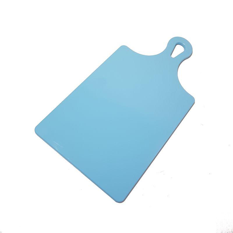 Tábua de Corte Raquete Polietileno Grande Azul 21 x 41 cm