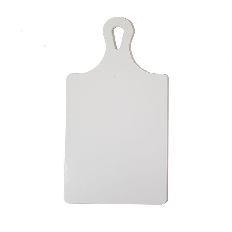 Tábua de Corte Raquete Polietileno Grande Branca 21 x 41 cm
