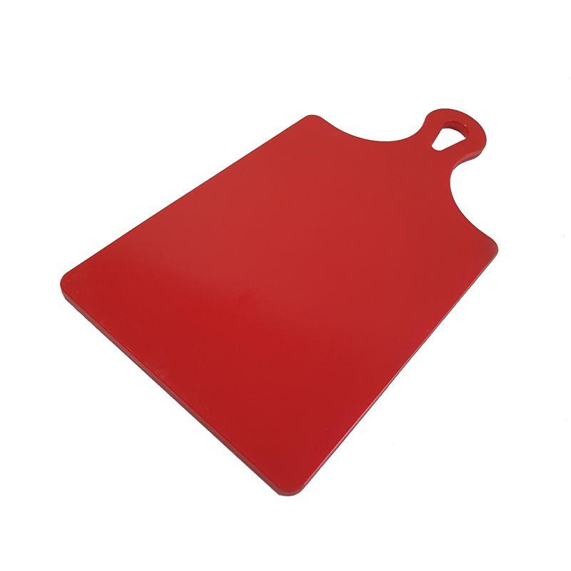 Tábua de Corte Raquete Vermelha em Polietileno 21 x 41 cm - Chef Work