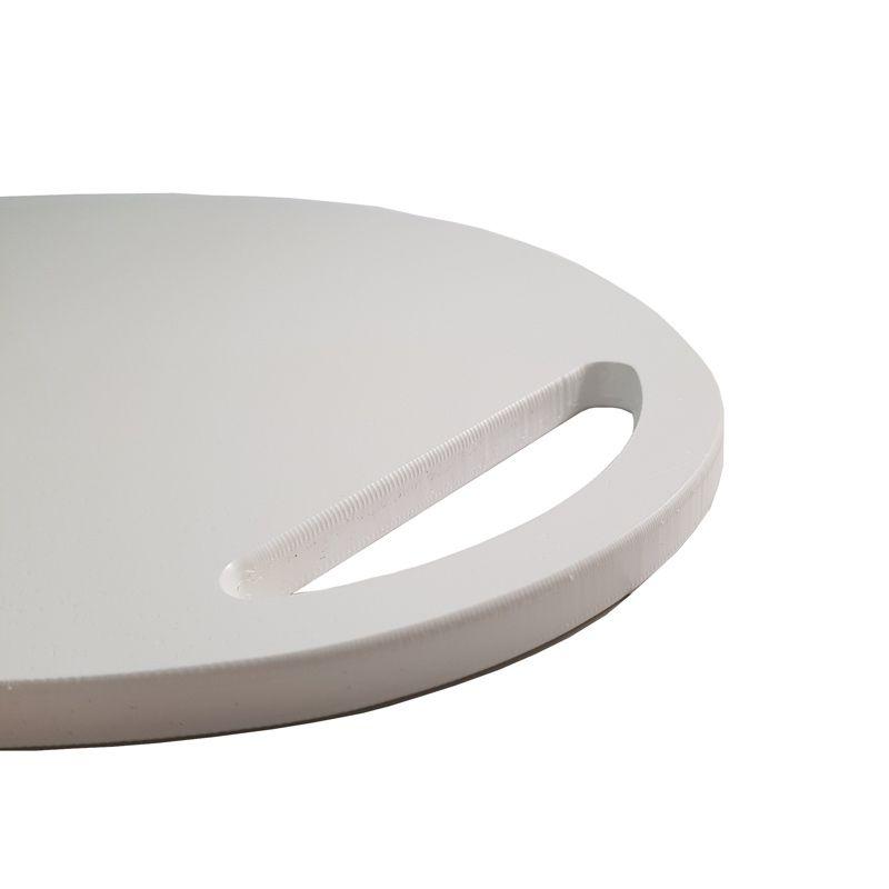 Tábua de Polietileno para Cortar e Servir Branca 24 x 36 x 1 cm