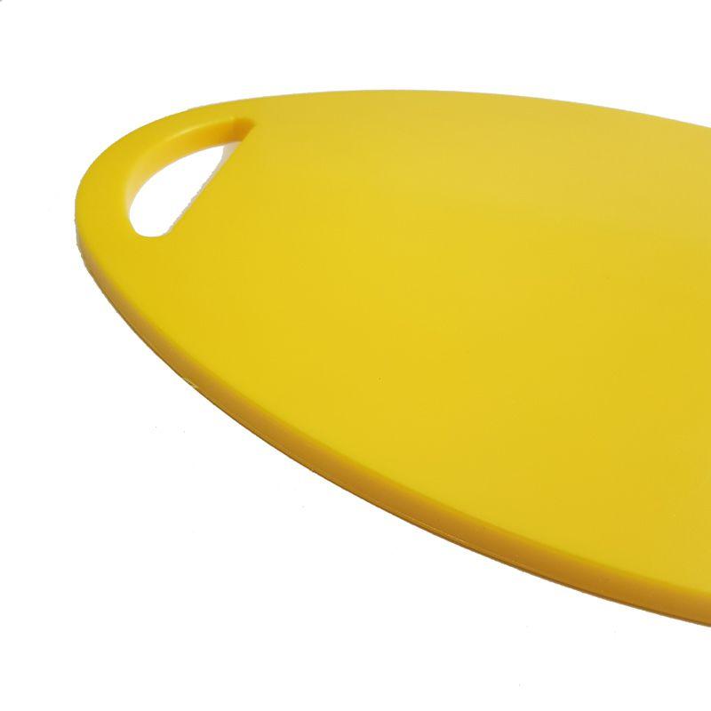 Tábua para Cortar e Servir em Polietileno Amarela 24 x 36 x 1 cm