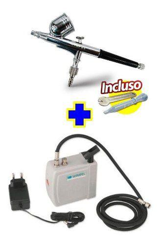 Kit Aerografia Wimpel Mini Compressor+mangueira+aerógrafo