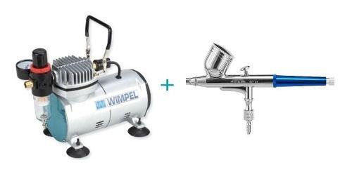 Kit Aerografia Compressor Comp-1+aerógrafo Steula Bc61-0.3