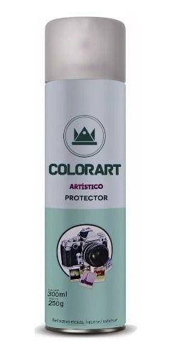 Verniz Spray Colorart Protector Fosco para Fotos Papel Gesso e Metais