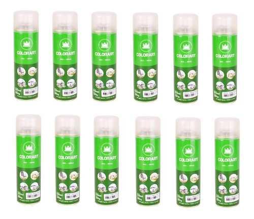 12 Verniz Acrilico Spray Brilhante 300ml Colorart Uso Geral