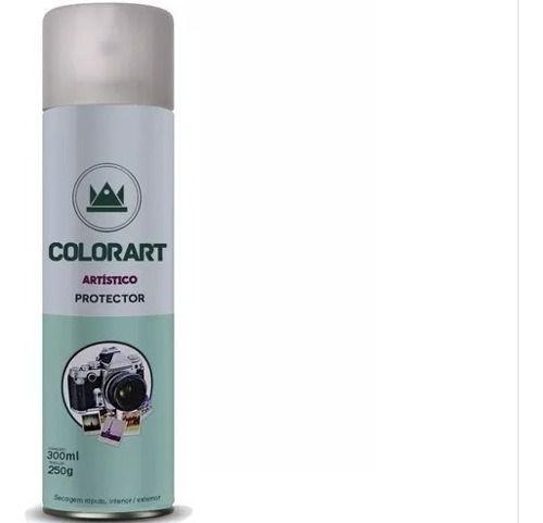 Verniz Spray Colorart Protector Brilhante Fotos Gravuras