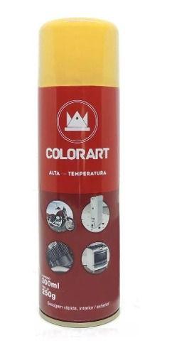 Tinta Spray Alta Temperatura Amarelo Motor Pinça 600ºc 300ml