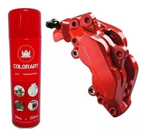 Tinta Alta temperatura Vermelho em Spray COLORART 300 ML