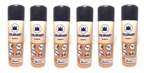 06 Tinta Preto Fosco Plasti K Spray Para Plástico Colorart