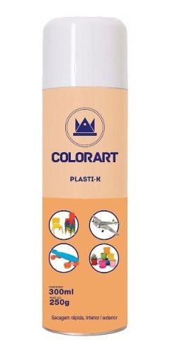 06 Tinta Spray Branco Brilhante Plastik Para Plástico