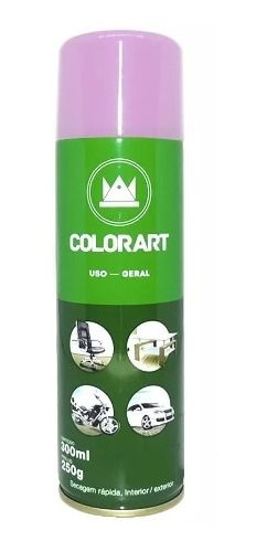 Tinta Spray Uso Geral Colorart Rosa Lata 300 Ml