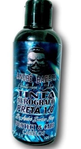 Tinta De Aerógrafo Para Pigmentação Barba E Cabelo 100Ml