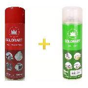Spray Vermelho Alta Temperatura E Spray Verniz Brilhante