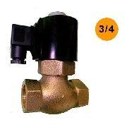 Válvula Solenoide 2/2 Vias Nf Para Vapor 180º Rosca 3/4 220v