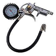 Calibrador De Pneus Pistola C/ Manômetro Até 220psi /15bar